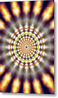 Metal Print featuring the drawing Harmonic Sphere Of Energy by Derek Gedney