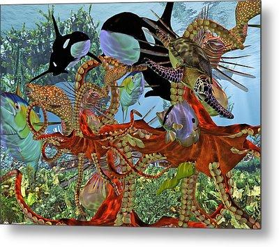 Harmony Under The Sea Metal Print by Betsy Knapp