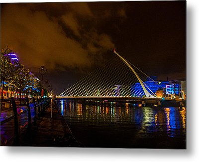 Harp Bridge Dublin Metal Print