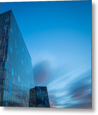 Harpa Concert And Convention Center Metal Print by Panoramic Images