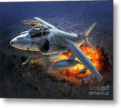 Harrier By Night Metal Print by Stu Shepherd