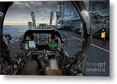 Harrier Cockpit Metal Print