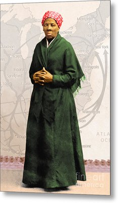 Harriet Tubman The Underground Railroad 20140210v2 Metal Print by Wingsdomain Art and Photography