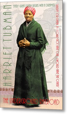 Harriet Tubman The Underground Railroad 20140210v2 With Text Metal Print