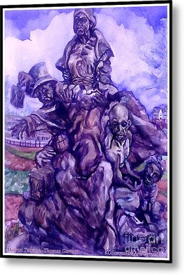 Harriet Tubman-underground Railroad-black Moses Metal Print by Keith OBrien Simms