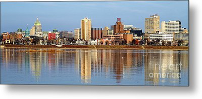 Harrisburg Reflections Metal Print
