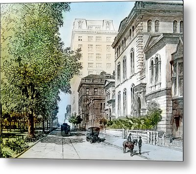 Harrison Residence East Rittenhouse Square Philadelphia C 1890 Metal Print by A Gurmankin