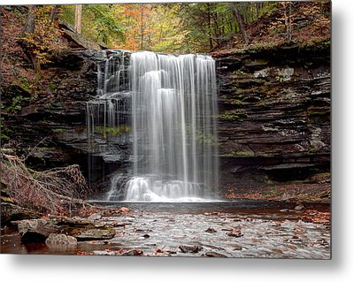 Harrison Wright Falls As Autumn Arrives Metal Print