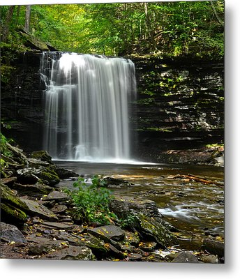 Harrison Wright Falls Metal Print by Frozen in Time Fine Art Photography