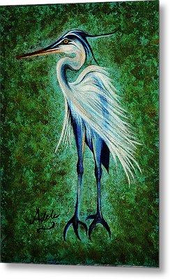 Harry Heron Metal Print by Adele Moscaritolo