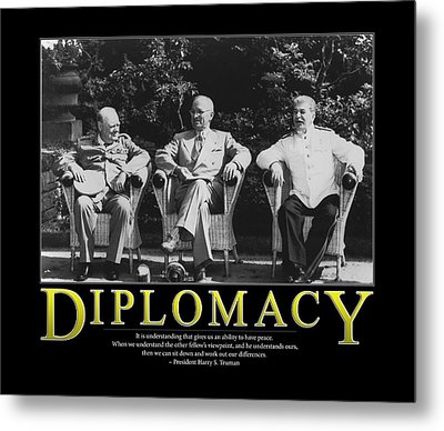 Harry Truman Diplomacy Metal Print by Retro Images Archive