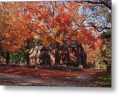 Hartwell Tavern Under Canopy Of Fall Foliage Metal Print by Jeff Folger