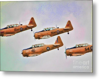 Metal Print featuring the photograph Harvard Aircraft  by Cathy  Beharriell