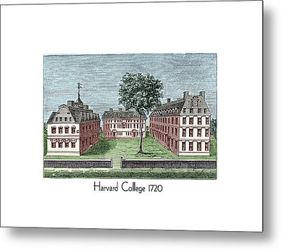 Harvard College - 1720 Metal Print