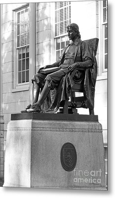 John Harvard Statue At Harvard University Metal Print