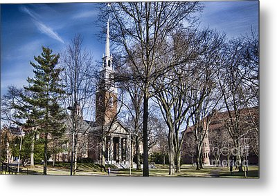 Harvard University Old Yard Church Metal Print