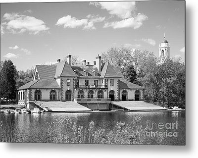 Weld Boat House At Harvard University Metal Print by University Icons