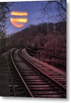 Harvest Moon Metal Print by Bill Cannon