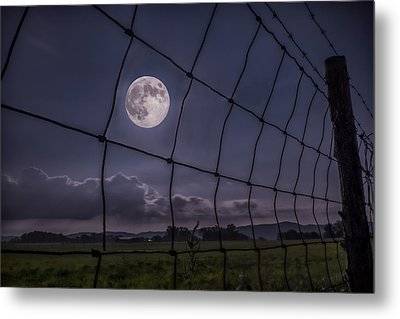 Metal Print featuring the photograph Harvest Moon by Jaki Miller