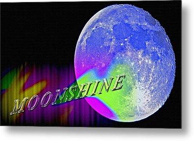 Harvest Moon - Moonshine Metal Print by Steve Ohlsen