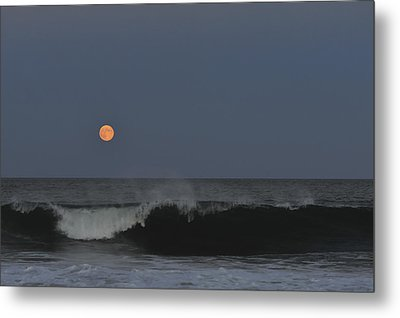 Harvest Moon Seaside Park Nj Metal Print by Terry DeLuco
