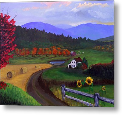 Harvest Time Metal Print by Janet Greer Sammons