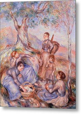 Harvesters Breakfast Metal Print by Pierre-Auguste Renoir