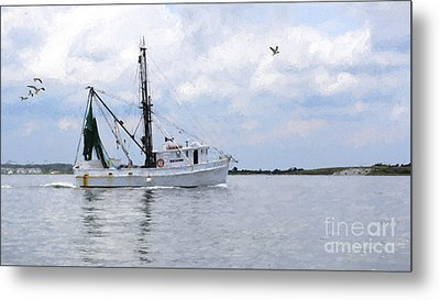 Harvesting The Waters Metal Print