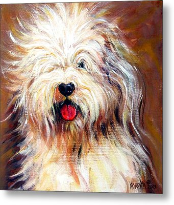 Harvey The Sheepdog Metal Print by Rebecca Korpita