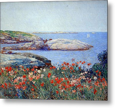 Hassam's Poppies On The Isles Of Shoals Metal Print by Cora Wandel