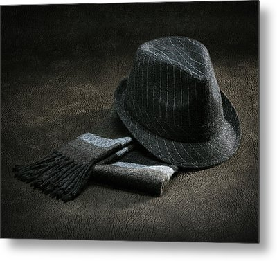 Metal Print featuring the photograph Hat And Scarf by Krasimir Tolev