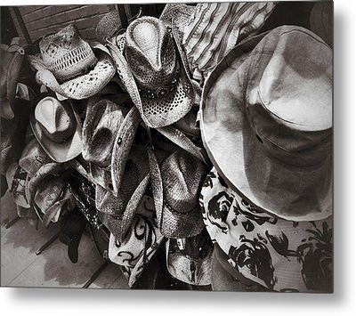 Hat Check Metal Print by Mark David Gerson