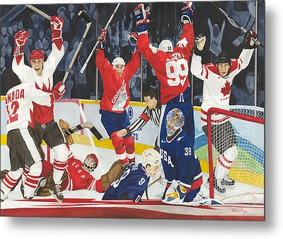 Hat Trick Metal Print by Ronald Wilkie