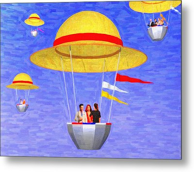 Hats In The Air Metal Print