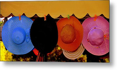 Metal Print featuring the photograph Hats Of Many Colors by Caroline Stella