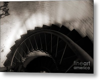Metal Print featuring the photograph Hatteras Staircase by Angela DeFrias