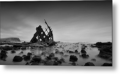 Haunted Beach Metal Print by Mihai Florea