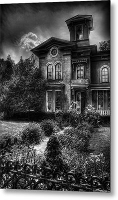 Haunted - Haunted House Metal Print by Mike Savad