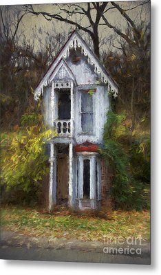 Haunted House Metal Print by Elena Nosyreva
