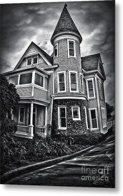 Haunted House Metal Print by Gregory Dyer