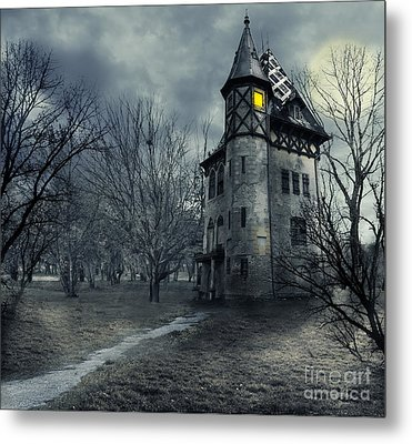 Haunted House Metal Print by Jelena Jovanovic