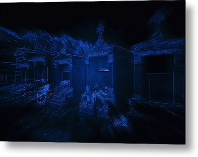 Haunted St Louis Cemetery No 3 New Orleans Metal Print by Christine Till