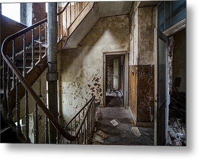 Haunted Staircase Urban Exploration Metal Print by Dirk Ercken