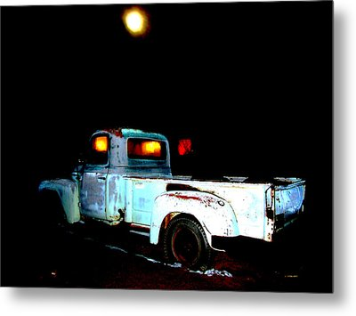 Metal Print featuring the digital art Haunted Truck by Cathy Anderson