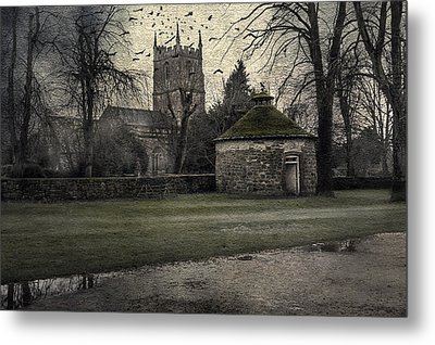 Haunted Village Metal Print by Svetlana Sewell