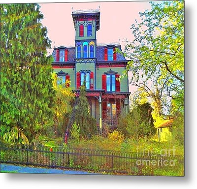 Metal Print featuring the photograph Hauntingly Victorian  by Becky Lupe