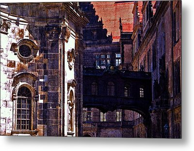 Metal Print featuring the photograph Hausmann Tower In Dresden Germany by Jordan Blackstone