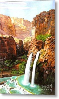 Havasu Falls Grand Canyon Metal Print