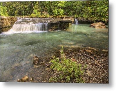 Haw Creek Falls Basin - Ozarks - Arkansas Metal Print by Jason Politte