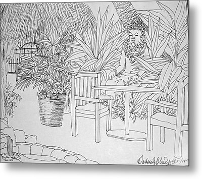 Hawaii Coloring Page Metal Print